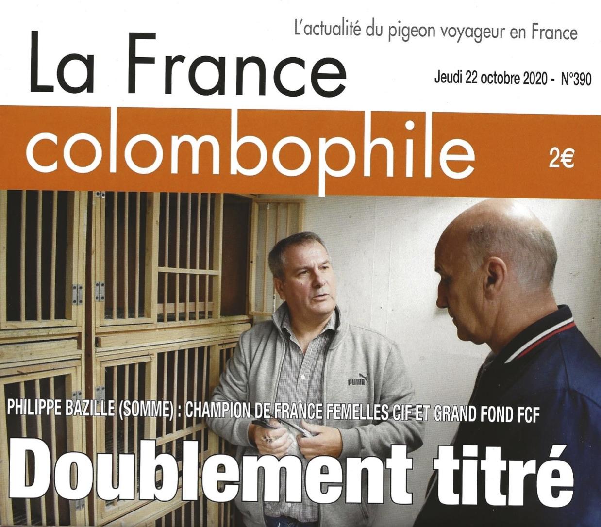 Numéro 390 La france colombophile avec Philippe Bazille